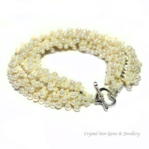 Ivory,Centibead,Bracelet,bracelet, centibead, bubble, cream, ivory, bridal, wedding, bride