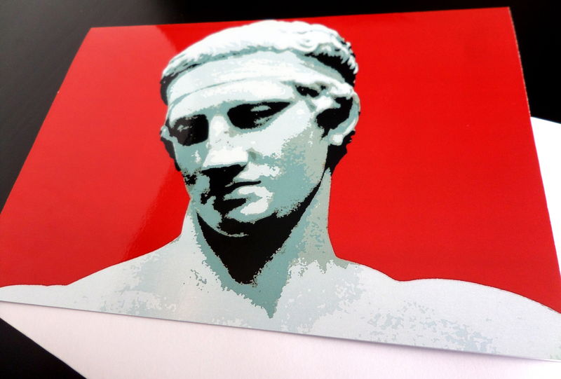 Greetings card diadoumenos ancient greek athlete dartworld greetings card diadoumenos ancient greek athlete product image m4hsunfo