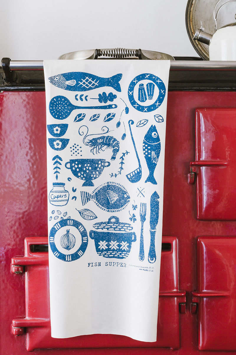 Fish Supper tea towel - product images  of