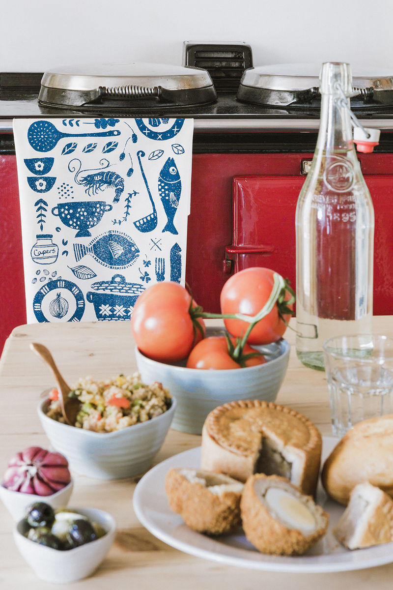 Fish Supper tea towel - product image