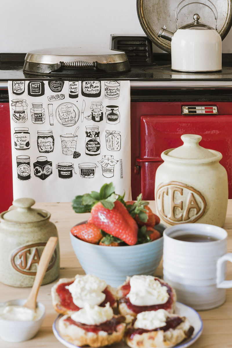 Jams and Chutneys Tea Towel - product images  of