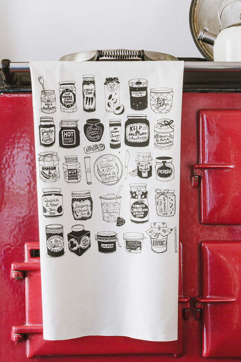 Jams and Chutneys Tea Towel - product image