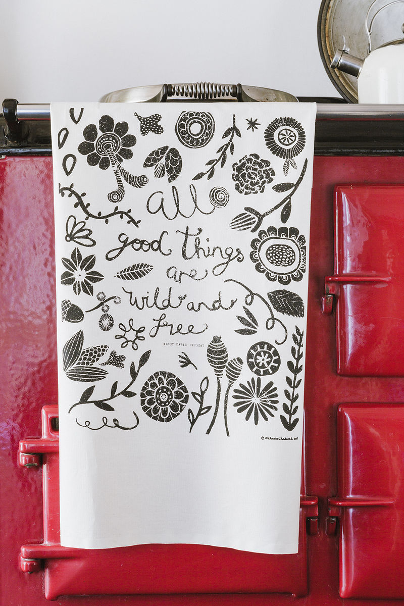 All Good Things are Wild and Free Tea Towel - product image