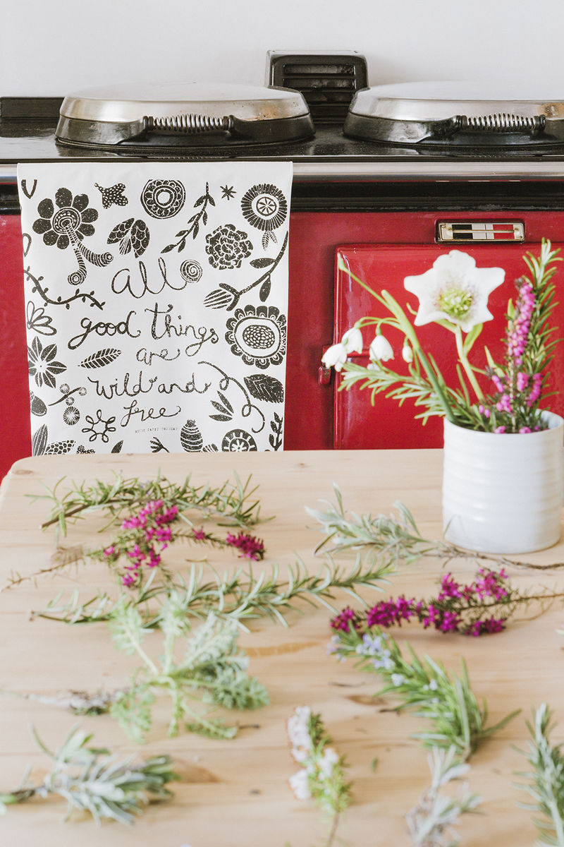 All Good Things are Wild and Free Tea Towel - product images  of