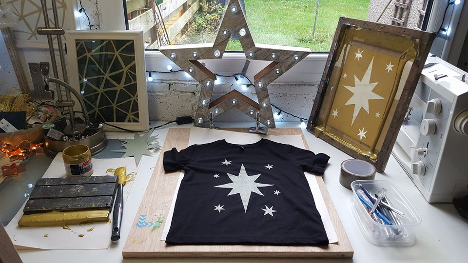How to screen print a tee