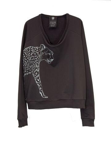 -,O-SIZE-SWEATER-CHEETAH,Sweater, Cheetah, Gepard, 3 Monkeys, III Monkeys, Hamburg, Fashion