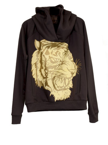 -,O-SIZE-HOODY-TIGER,Sweater, Tiger, 3 Monkeys, III Monkeys, Hamburg, Fashion