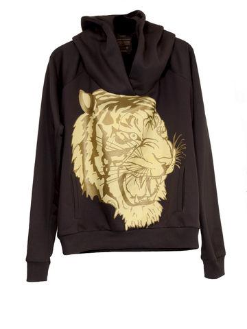 -,O-SIZE-HOODY-TIGER,Sweater, Tiger, 3 Monkeys, III Monkeys, Hamburg, Fashion