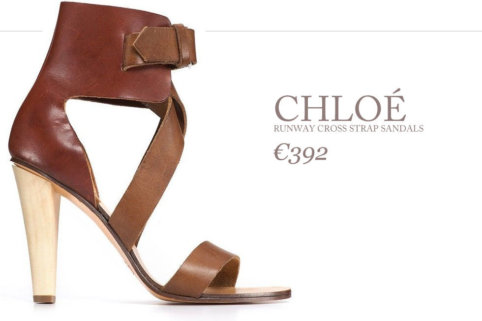 Chloé - Runway Cross Strap Sandals