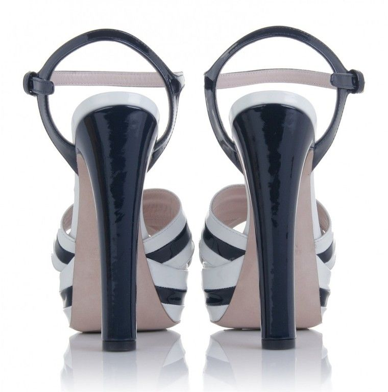 Miu Miu - Two-tone Patent Leather Sandals - product images  of