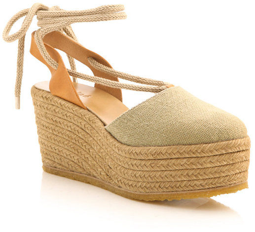 Chloé - Canvas Espadrille Wedges - product images  of