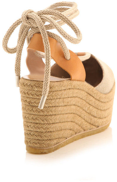 Chlo 233 Canvas Espadrille Wedges Cookoo