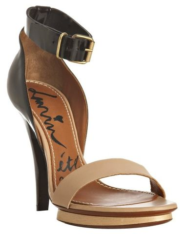Lanvin,-,Black,Patent,and,Nude,Leather,Ankle,Strap,Sandals,Lanvin - Black Patent and Nude Leather Ankle Strap Sandals