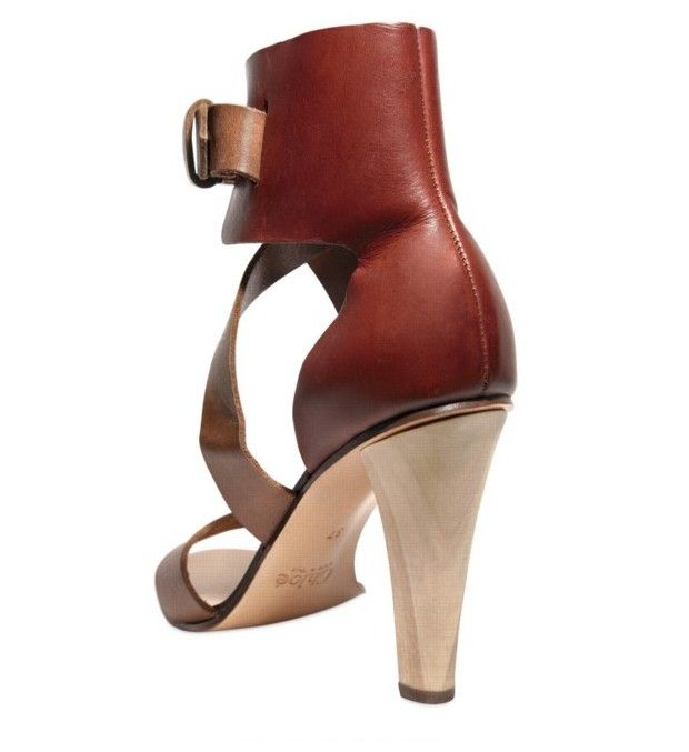 Chloé - 100mm Calfskin Ankle Sandals - product images  of