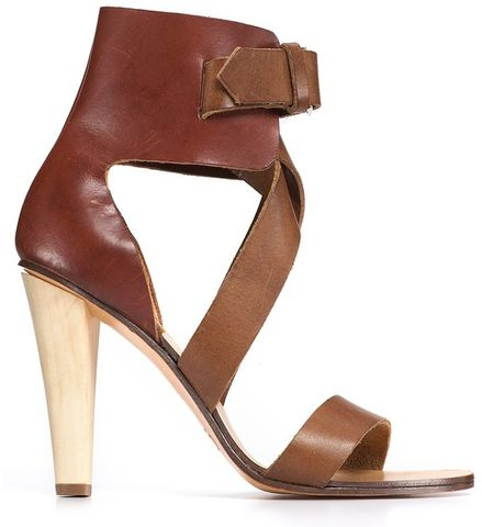 Chloé,-,Runway,Cross,Strap,Sandals,Chloé - Runway Cross Strap Sandals