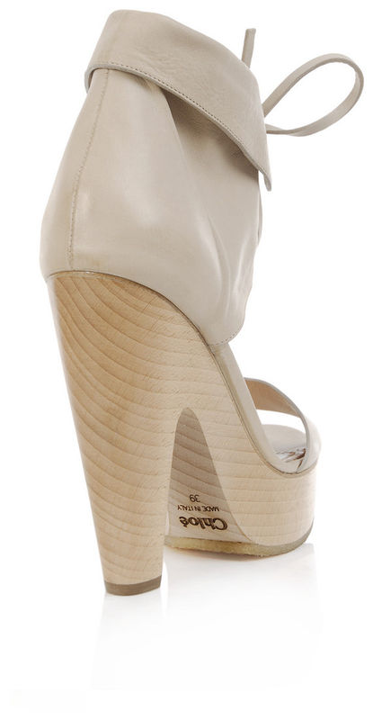Chloé - Wooden Clog Sandals   - product images  of