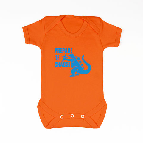 Prepare,for,chaos,-,Brilliant,Orange,Edition,Childrens wear,Baby clothes,Bodysuit,baby_wear,baby,onesie,prepare_for_chaos,godzilla,baby_bodysuit,Baby_godzilla,baby_grow,Baby_Onesie,godzilla_Onesie,chaos_baby,baby_godzilla_onesie,baby_clothes