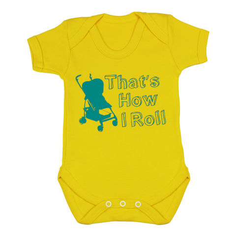 That's,How,I,Roll,-,Yellow,Submarine,Edition,Children wear,Baby clothing,Bodysuit,baby_wear,baby,onesie,baby_onesie,Baby_Grow,That's how_I_roll,Trendy_baby,cool_baby