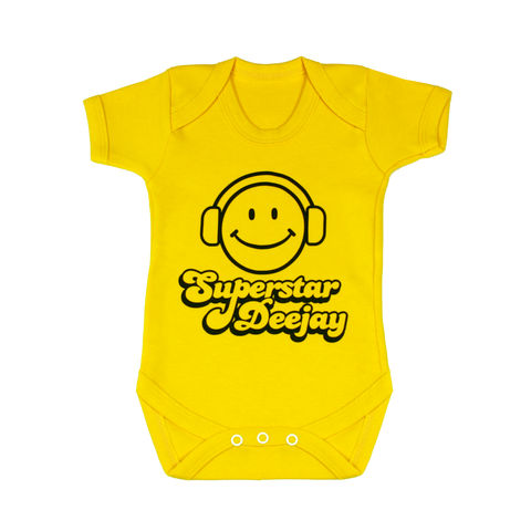 Superstar,DJ,Children wear,Baby clothing,Bodysuit,baby_wear,baby,onesie,baby_onesie,Baby_Grow,That's how_I_roll,Trendy_baby,cool_baby