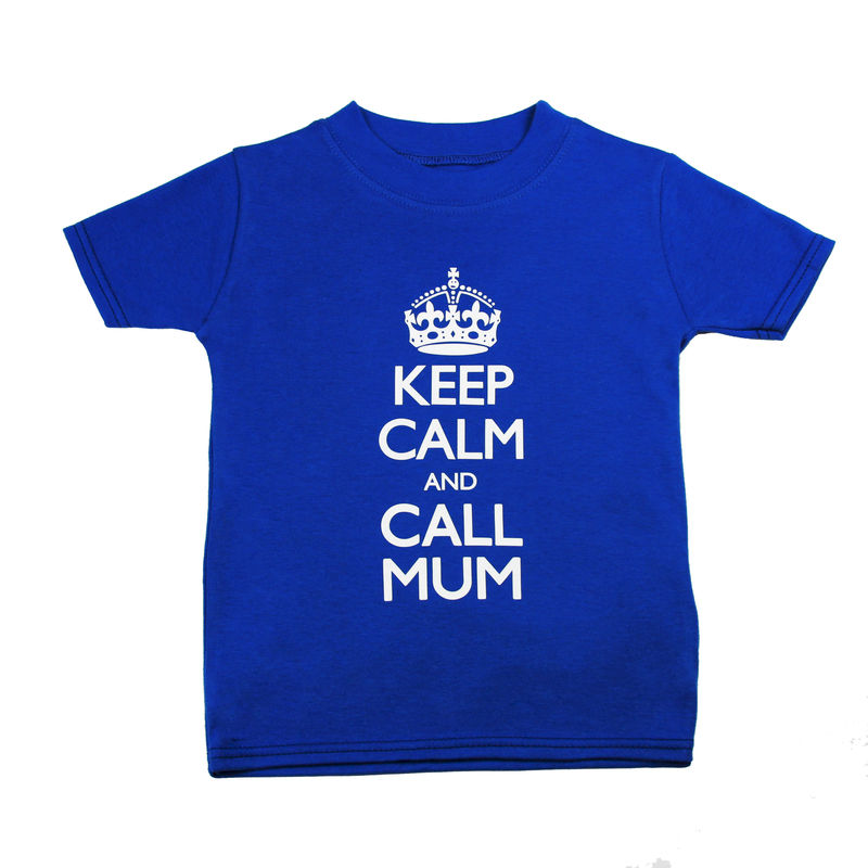 Keep Calm Call Mum - T-shirt Blue Hue Edition - product image