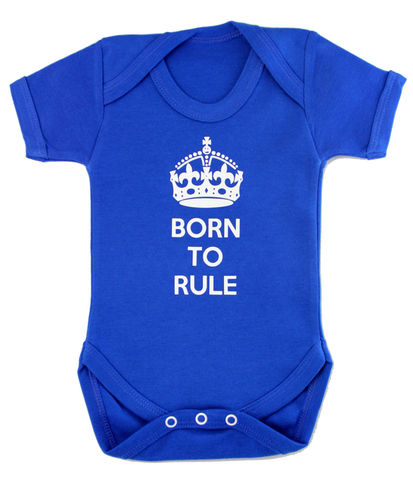 Born,to,Rule,Highborn collection,the royal baby,a royal baby,new royal baby,Baby Clothes,Baby clothing,Baby Body suit,Baby bodysuit,baby onesie,onesie,baby grow,highborn collection,Royal baby,Born to rule,Blue,Cotton