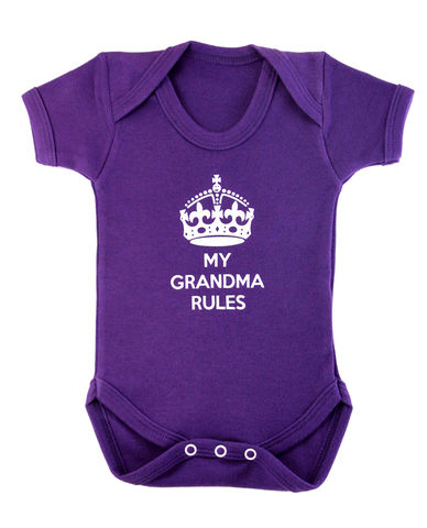 My,Grandma,Rules,Highborn collection,the royal baby,a royal baby,new royal baby,Baby Clothes,Baby clothing,Baby Body suit,Baby bodysuit,baby onesie,onesie,baby grow,,Royal Baby wear