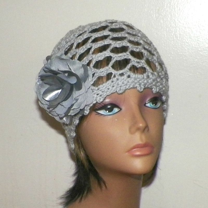 Gray Summer Sun Hat Cloche Hat Irish Lace Womens Summer Cotton Flapper  Downton Abby Bridal Flower Brooch Crochet Gatsby Bucket 1920 - Wild Irish  Rose ... 62e009ee874b
