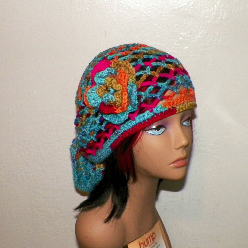 Blue and White Bandanas Headwear Curly Flowers Wild Scarf Unisex Multi-Purpose