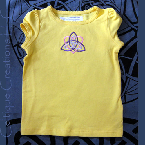 Celtic Trinity Knot Toddler T-Shirt 24M Heart Knotwork Embroidery - product images  of