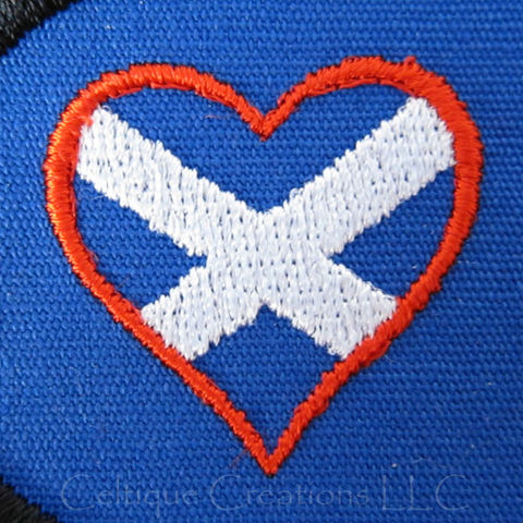 Sew On I Heart Love Scotland Patch Badge St. Andrews Cross Embroidery - product images  of