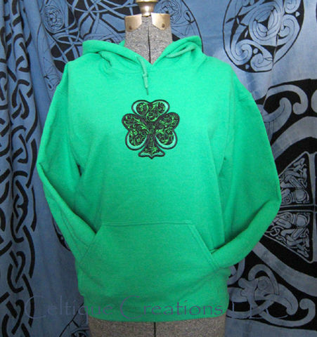 Irish,Shamrock,Green,Hooded,Sweatshirt,Applique,Clover,Hoodie,Irish Shamrock Sweatshirt, Shamrock Hooded Sweatshirt, St. Patrick's Day Irish Shamrock Sweatshirt, Shamrock Hoodie