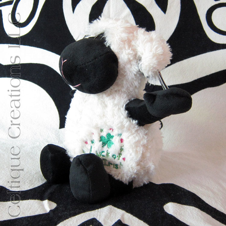Large Sitting Luck of the Irish Lamb Stuffed Animal Sheep Soft Toy - product images  of