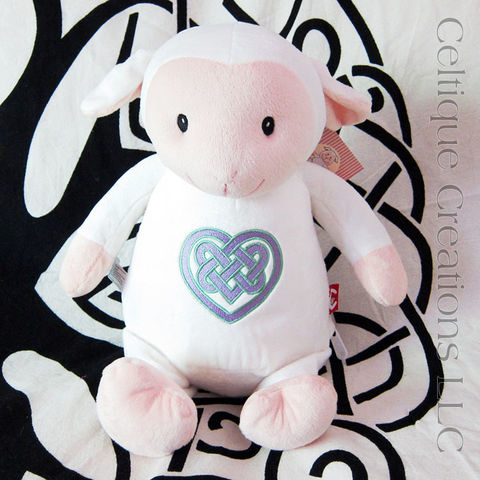 Celtic,Lamb,Cubbies,Stuffed,Animal,Heart,Embroidered,Sheep,Soft,Toy,Chubby Lamb, Celtic Lamb, Celtic Sheep, Cubbies, Cubbies Lamb, Celtic Heart, Lamb Stuffed Animal, Lamb Soft toy, Celtique Creations