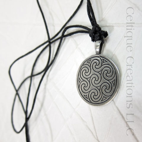 Interlocking,Celtic,Triskele,Fine,Pewter,Adjustable,Necklace,Celtic Triskele, Celtic Triple Spiral Necklace, Celtic Jewelry, Celtic Pewter Necklace, Triple Spiral, Triskele, Triskelion, Celtic Necklace, Celtique Creations