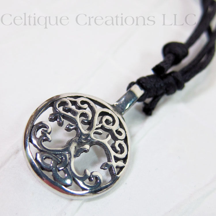 Celtic Tree of Life Adjustable Fine Pewter Necklace - product images  of