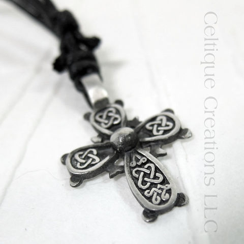 Square,Knot,Celtic,Cross,Necklace,Adjustable,Fine,Pewter,Celtic Cross Necklace, Pewter Celtic Necklace, Celtic Cross Adjustable Necklace, Adjustable Celtic Necklace, Celtic Jewelry, Celtique Creations