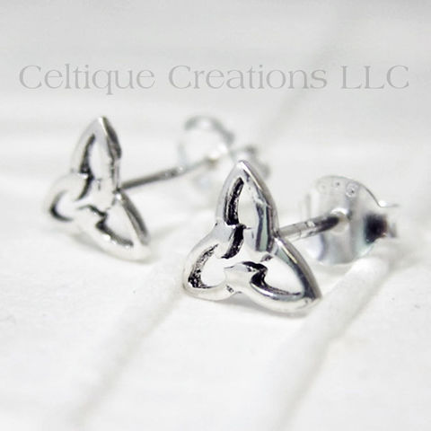 Celtic,Triquetra,Knot,Sterling,Silver,Stud,Earrings,Trinity Knot Earrings, Triquetra Earrings, Sterling Silver Celtic Earrings, Celtic Stud Earrings, Celtic Post Earrings, Trinity Stud Earrings, Celtic Jewelry, Celtique Creations