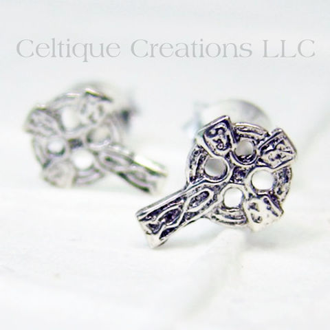 Celtic,Cross,Sterling,Silver,Stud,Earrings,Celtic Cross Jewelry, Celtic Cross Sterling Silver Earrings, Celtic Cross Stud Earrings, Celtic Cross Post Earrings, Celtic Jewelry, Celtic Earrings, Celtic Sterling Silver Jewelry, Celtique Creatons