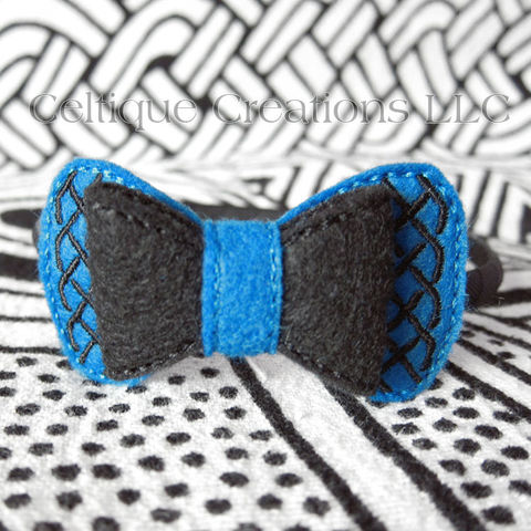 Handmade Celtic Headband Blue and Black - product images  of