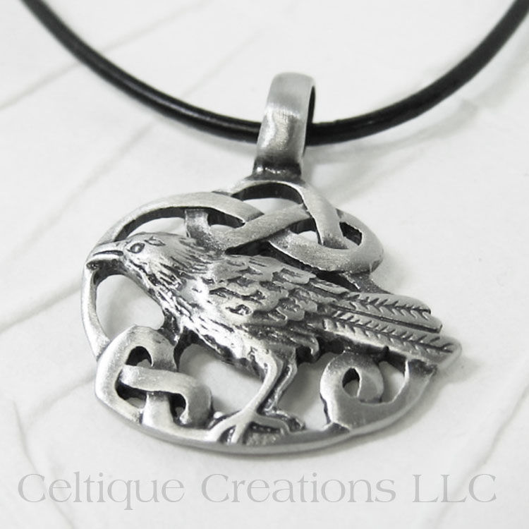 Celtic Raven Necklace Handmade Adjustable - product images  of