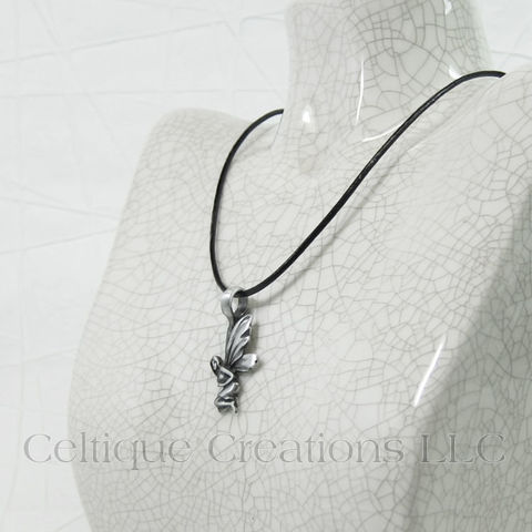 Fairy Necklace Handmade Adjustable with Pewter Pendant - product images  of