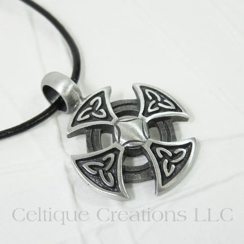 Handmade,Celtic,Cross,Necklace,Adjustable,Celtic Cross Necklace, Handmade Celtic Cross Necklace, Celtic Cross Jewelry, Handmade Celtic Jewelry, Pewter Celtic Cross Pendant, Celtique Creations