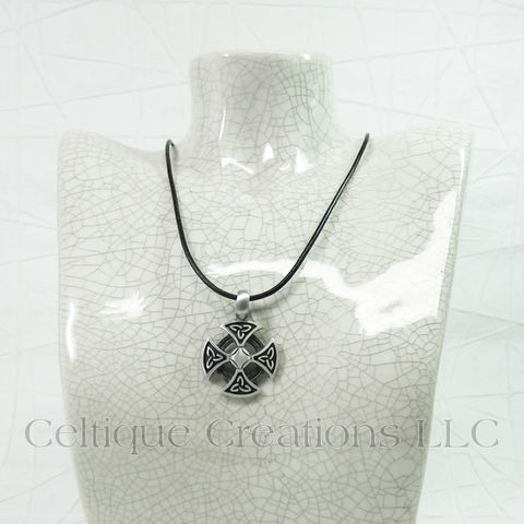 Handmade Celtic Cross Necklace Adjustable - product images  of