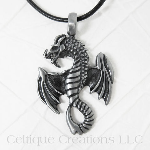 Flying,Dragon,Necklace,Handmade,Adjustable,Flying Dragon Necklace, Dragon Necklace, Dragon Jewelry, Handmade Dragon Necklace, Celtique Creations