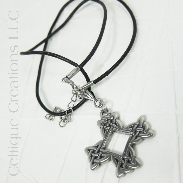 Celtic Cross Handmade Necklace Adjustable - product images  of