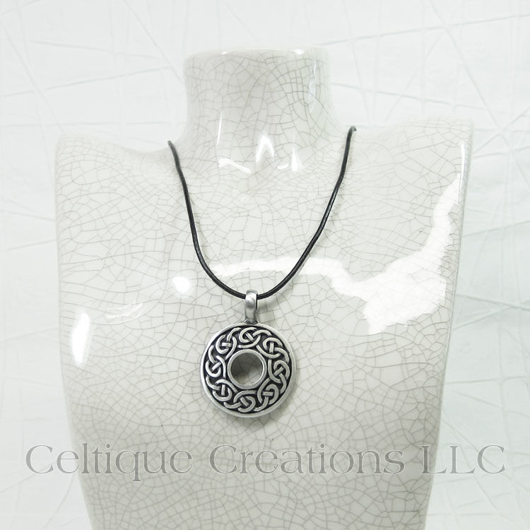 Celtic Knot Circle Necklace Handmade Adjustable - product images  of