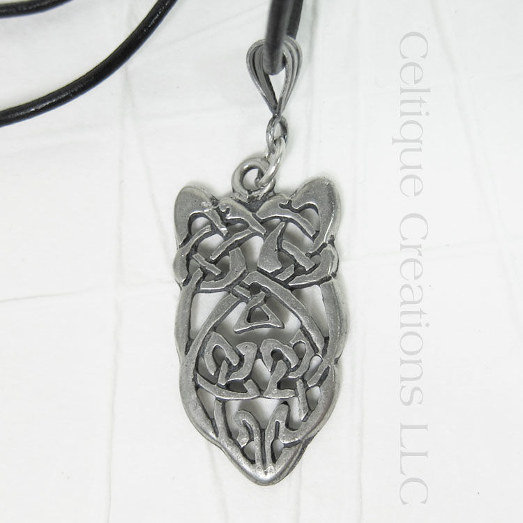 Celtic Knot Shield Necklace Handmade Adjustable - product images  of