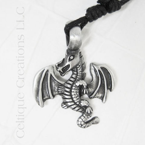Flying,Dragon,Necklace,Adjustable, Dragon Necklace, Dragon Jewelry, Adjustable Dragon Necklace, Celtique Creations