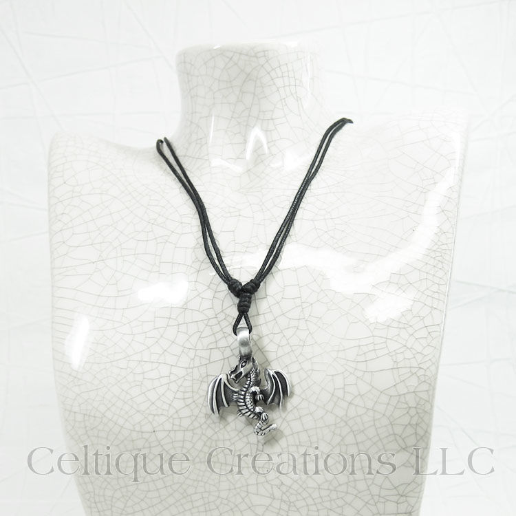 Flying Dragon Necklace Adjustable - product images  of