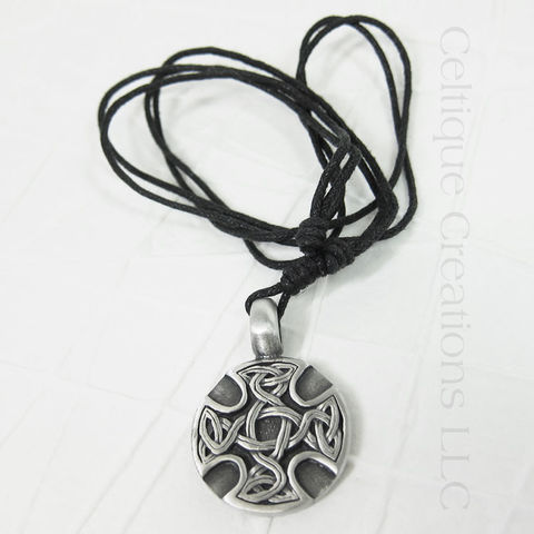 Celtic,Cross,Medallion,Necklace,Adjustable,Celtic Cross Necklace, Celtic Knotwork Cross Necklace, Celtic Knot Cross Necklace, Celtic Cross Jewelry, Celtic Cross Medallion, Celtic Jewelry, Celtique Creations